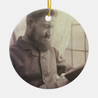 Portrait of George Bernard Shaw (1856-1950) as a Y Ceramic Ornament