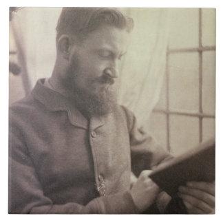 Portrait of George Bernard Shaw (1856-1950) as a Y Large Square Tile