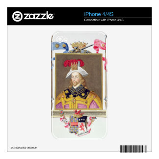 Portrait of George Clifford (1558-1605) 3rd Earl o Decals For iPhone 4