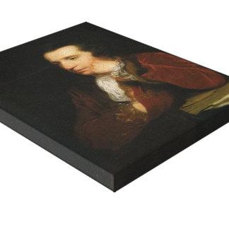 Portrait of George Colman by Joshua Reynolds Stretched Canvas Print