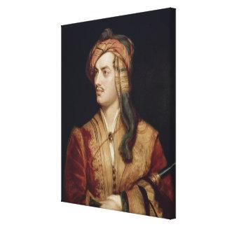 Portrait of George Gordon (1788-1824) 6th Baron By Canvas Print