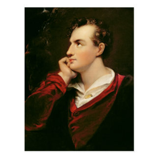 Portrait of George Gordon Byron  6th Baron Postcard
