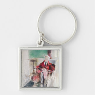 Portrait of George Moore  c.1920 Silver-Colored Square Keychain