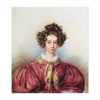 Portrait of George Sand  1830 Canvas Print