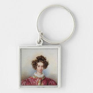 Portrait of George Sand  1830 Keychain