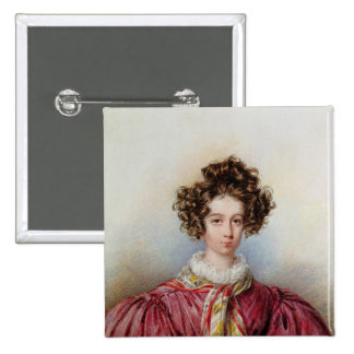 Portrait of George Sand  1830 Pinback Button