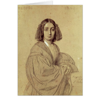 Portrait of George Sand  1837 Greeting Cards