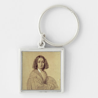 Portrait of George Sand  1837 Keychains