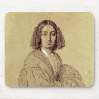 Portrait of George Sand  1837 Mouse Pad