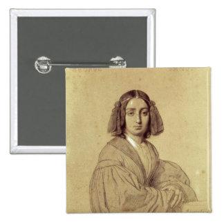 Portrait of George Sand  1837 Pinback Button