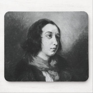 Portrait of George Sand, 1838 Mouse Pad