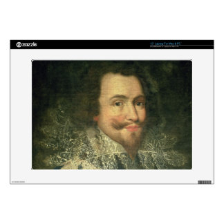 "Portrait of George Villiers, 1st Duke of Buckingha Decal For 15"" Laptop"