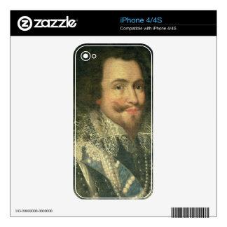 Portrait of George Villiers, 1st Duke of Buckingha Skin For iPhone 4