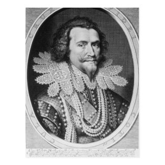Portrait of George Villiers Postcard