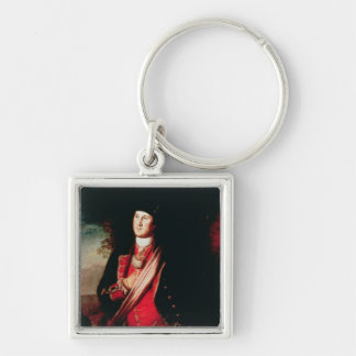 Portrait of George Washington  1772 Keychain