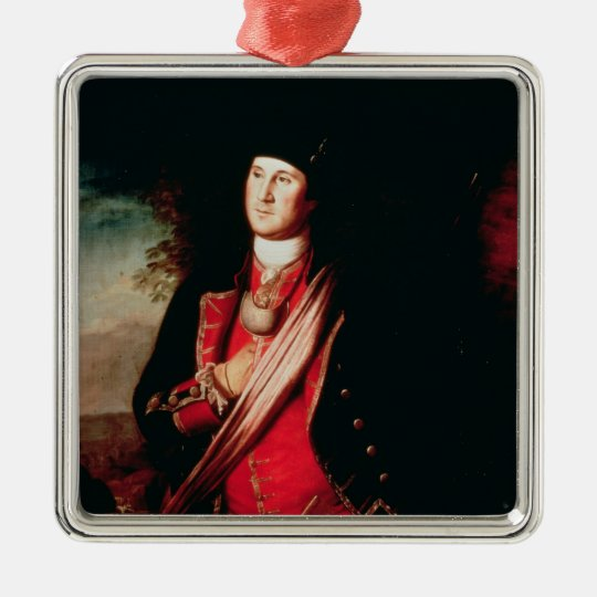 Portrait of George Washington  1772 Metal Ornament