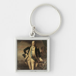 Portrait of George Washington, 1779 Keychain