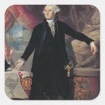 Portrait of George Washington, 1796 Square Sticker