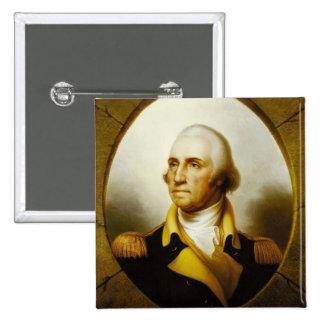 Portrait of George Washington 2 Inch Square Button