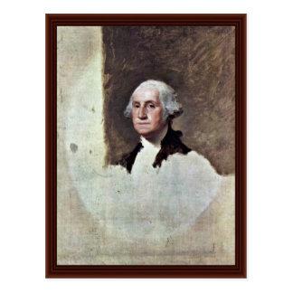 Portrait Of George Washington,  By Gilbert Stuart Postcard