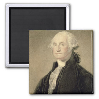 Portrait of George Washington, engraved by William 2 Inch Square Magnet