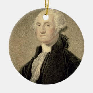 Portrait of George Washington, engraved by William Ceramic Ornament
