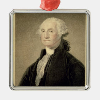 Portrait of George Washington, engraved by William Metal Ornament