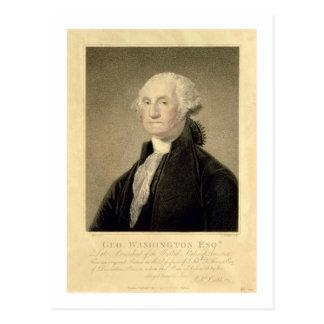 Portrait of George Washington, engraved by William Postcard