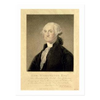 Portrait of George Washington, engraved by William Postcard