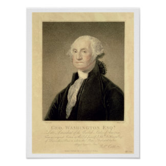 Portrait of George Washington, engraved by William Poster