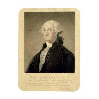 Portrait of George Washington, engraved by William Rectangular Photo Magnet