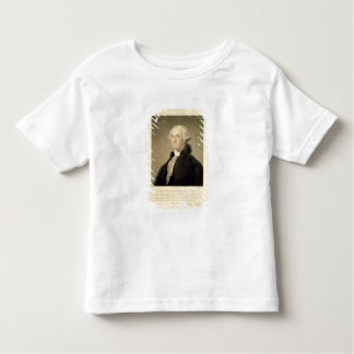 Portrait of George Washington, engraved by William Toddler T-shirt