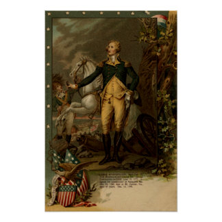 Portrait of George Washington Posters