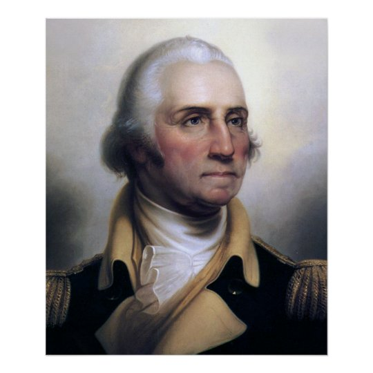 Portrait of George Washington Poster