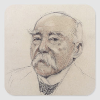 Portrait of Georges Clemenceau Square Sticker