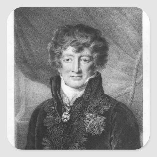 Portrait of Georges Cuvier Square Sticker
