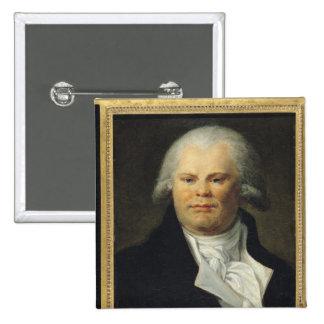 Portrait of Georges Danton Pinback Button