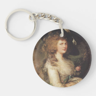 Portrait of Georgiana by Thomas Gainsborough Keychains