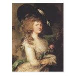 Portrait of Georgiana by Thomas Gainsborough Post Card