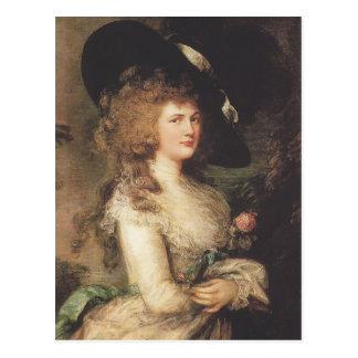 Portrait of Georgiana by Thomas Gainsborough Postcard