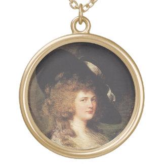 Portrait of Georgiana, Duchess of Devonshire Round Pendant Necklace