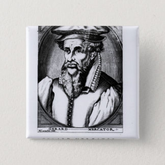 Portrait of Gerard Mercator Pinback Button
