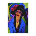 """Portrait of Gerda"" Masterpiece c1914 Canvas Print"