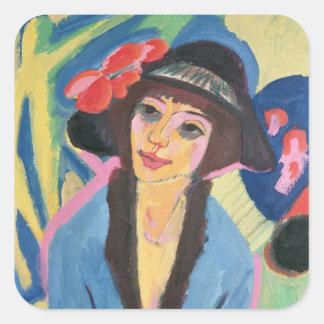 Portrait of Gerda Square Sticker