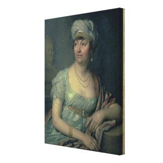 Portrait of Germaine de Stael , 1812 Canvas Print