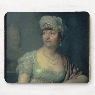 Portrait of Germaine de Stael , 1812 Mouse Pad