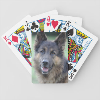 Portrait of German Sheppard Bicycle Playing Cards