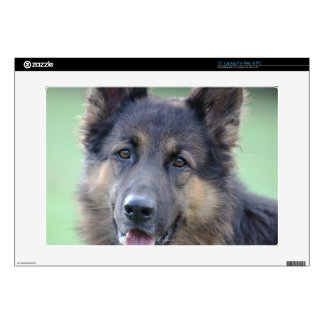 Portrait of German Sheppard Laptop Decal