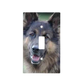 Portrait of German Sheppard Light Switch Cover
