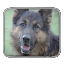 Portrait of German Sheppard Sleeve For iPads